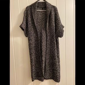 WHBM XS fits L Long Open Duster Knit  Sweater top
